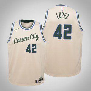 Women Bucks #42 Robin Lopez City Jersey